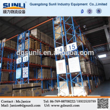 Double deep pallet storage steel rack